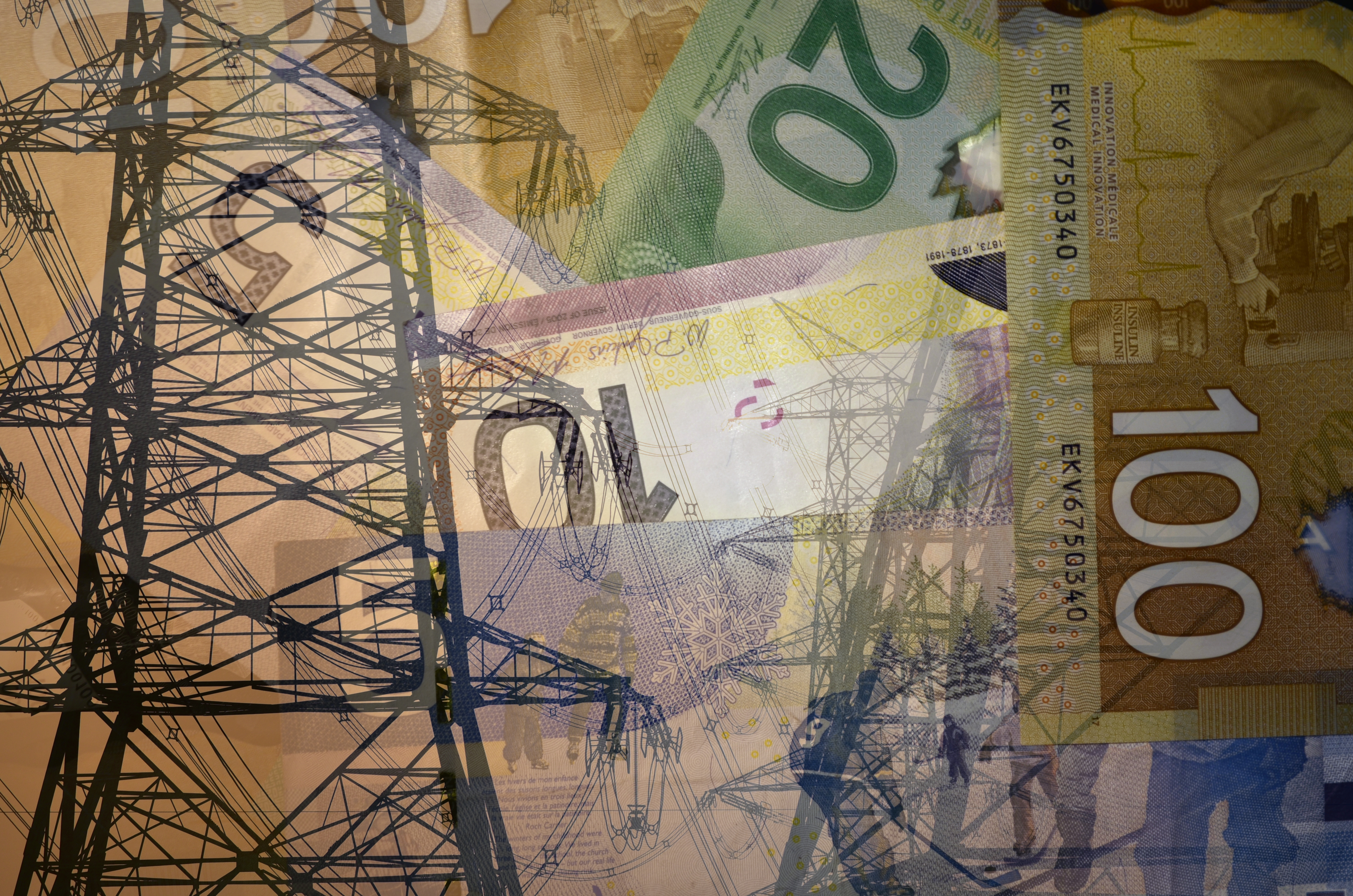 Electric Tower with Canadian Money_277944086