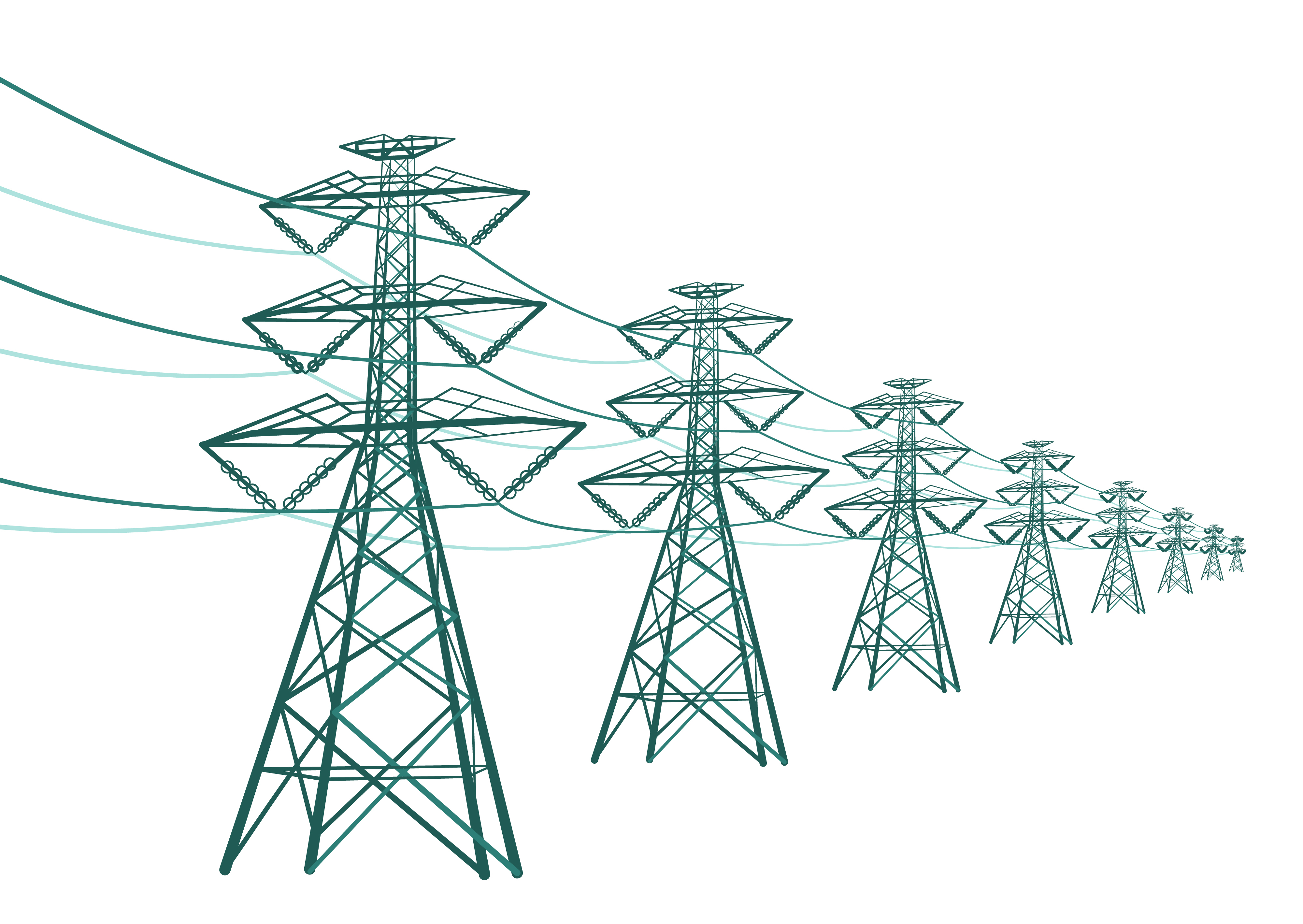 shutterstock_139354148 - Vector drawing of transmission lines