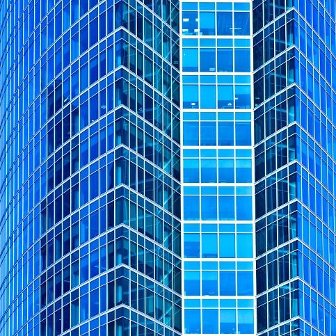 Blue-glass-building