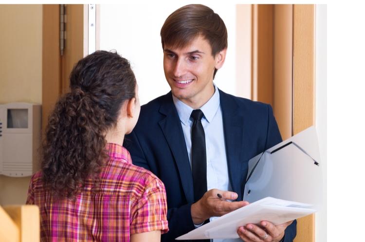 door-to-door salesperson