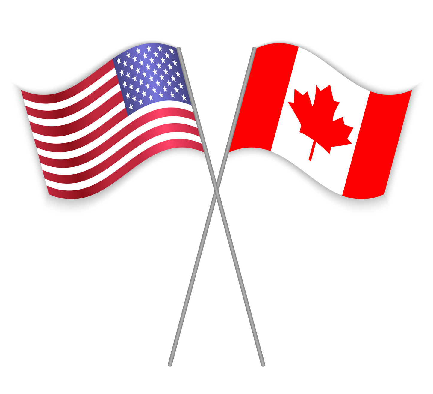 Fotolia_134688681_American and Canadian crossed flags_M