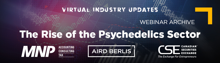 June 10 - The Rise of the Psychedelics Sector Webinar Archive 876x254