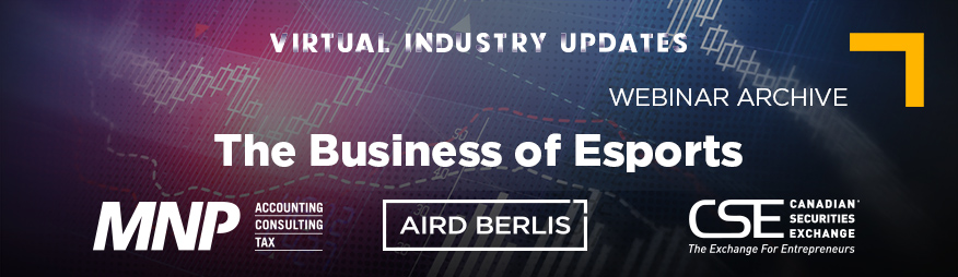 May 27 Business of Esports Webinar Archive 876x254