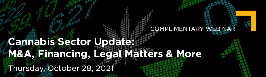 Oct 28 Cannabis Sector Update Website 876x254