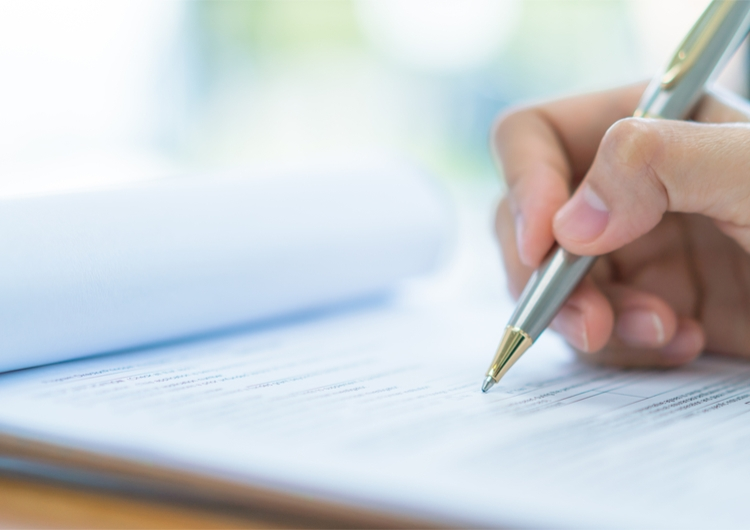 pen on document