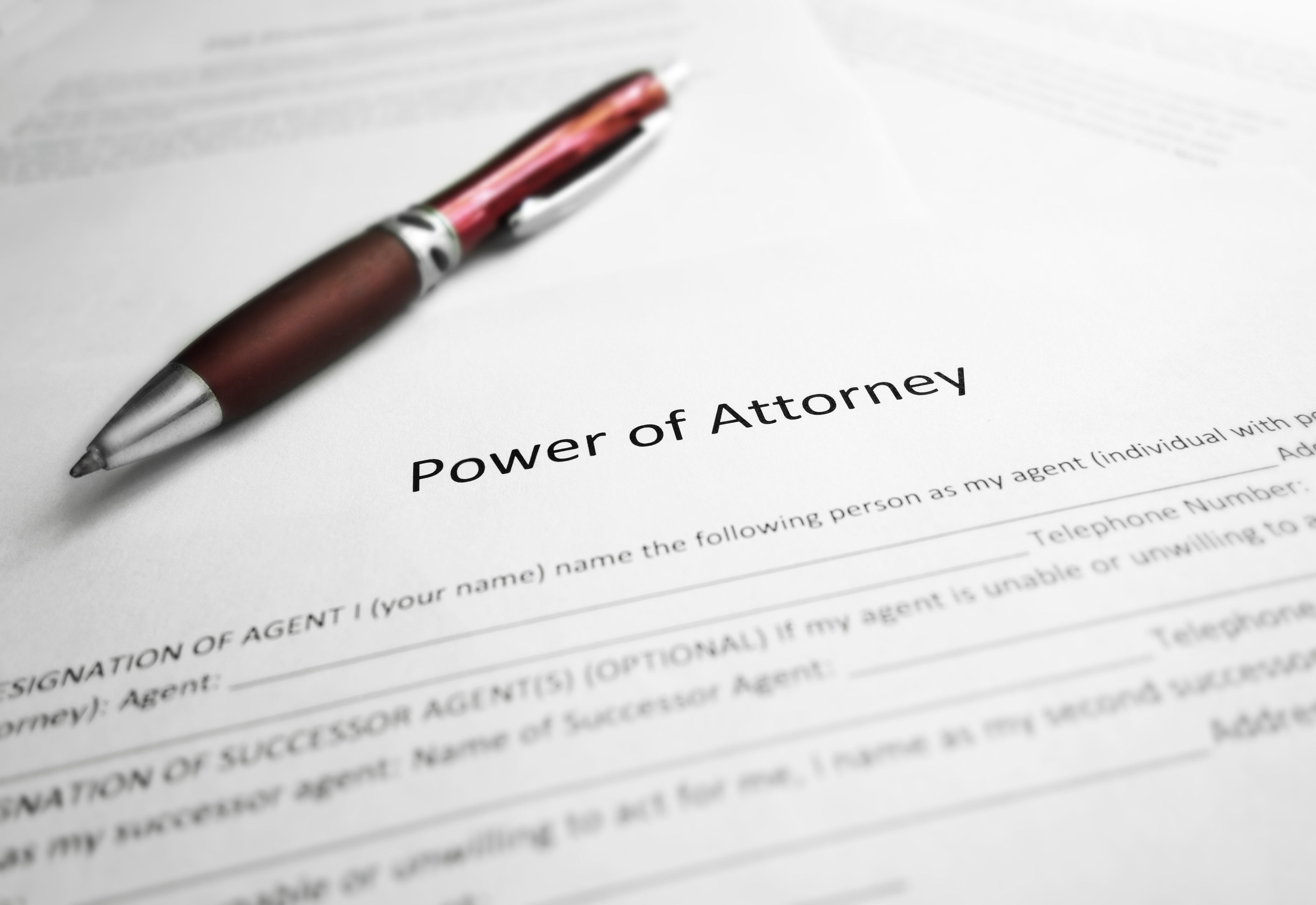 shutterstock_684639406 Power of Attorney Pen