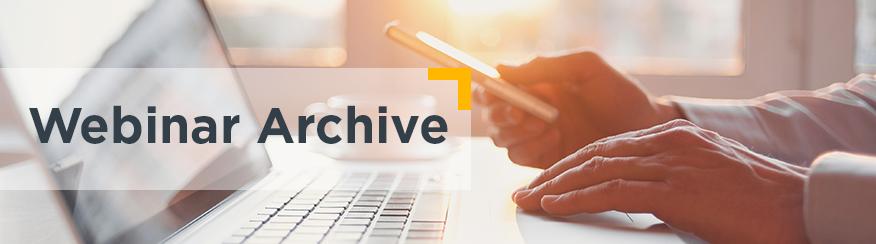 Webinar Archive Banner