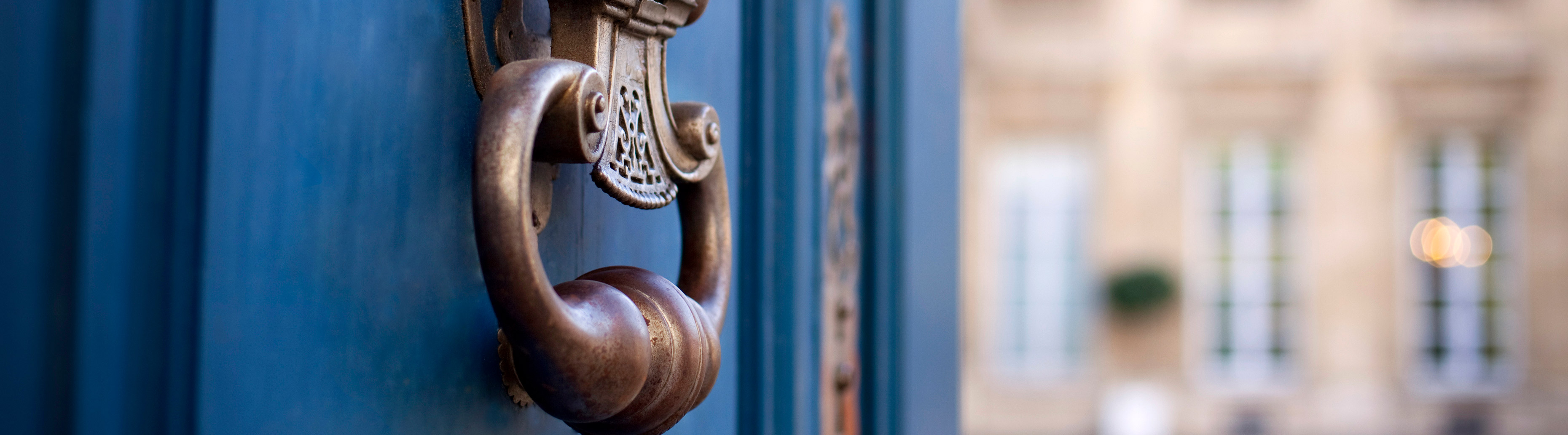 Door and knocker of a stylish mansion