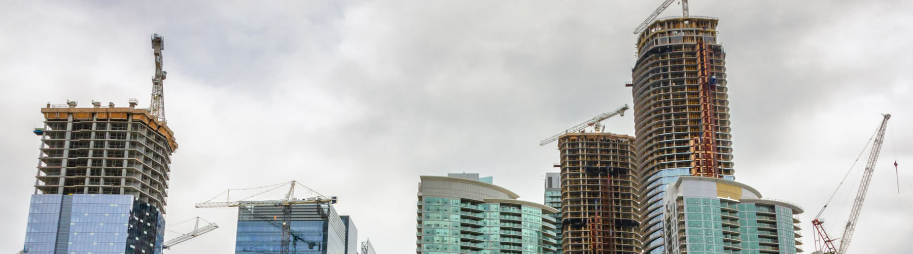 High rise buildings under construction