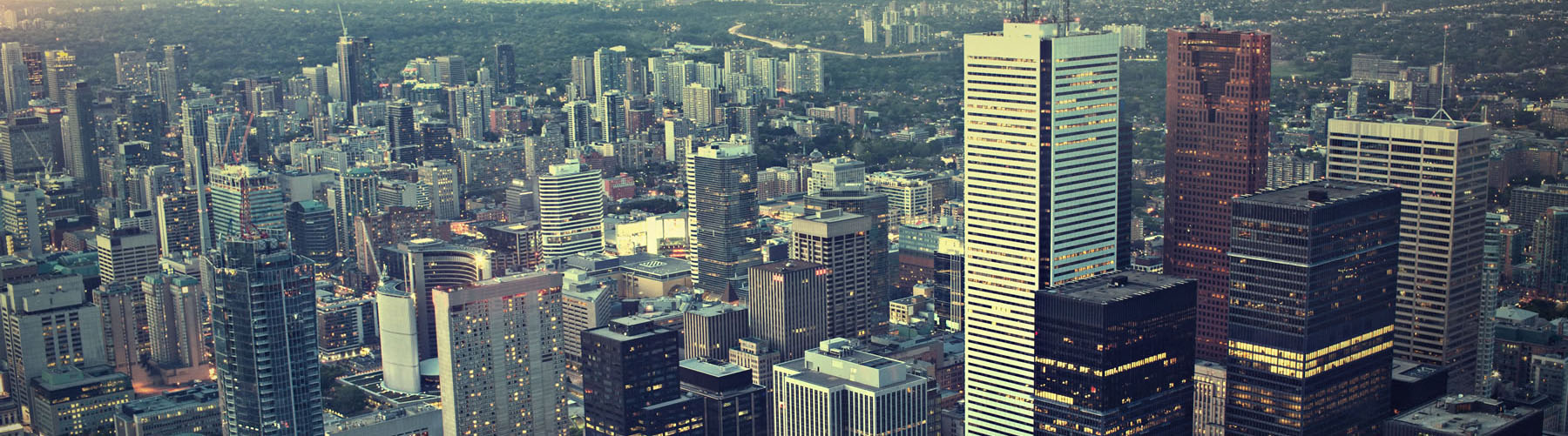 Business buildings in downtown Toronto