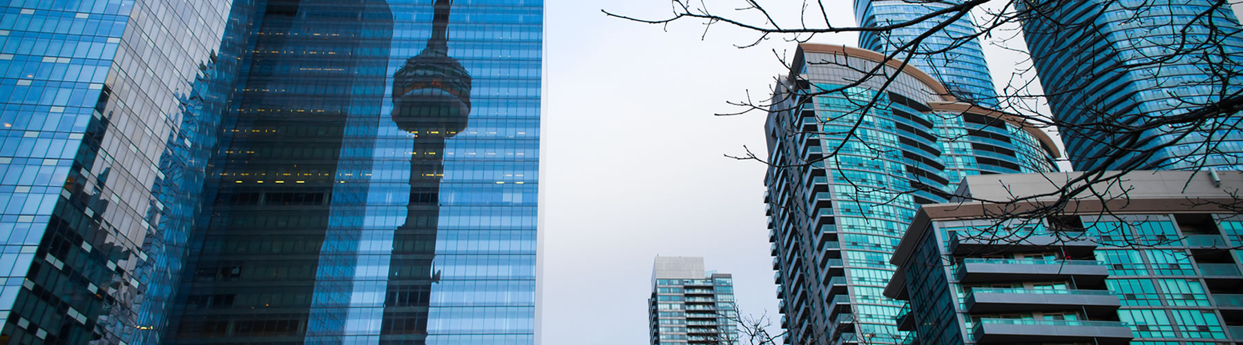 CN Tower and skyscrapers