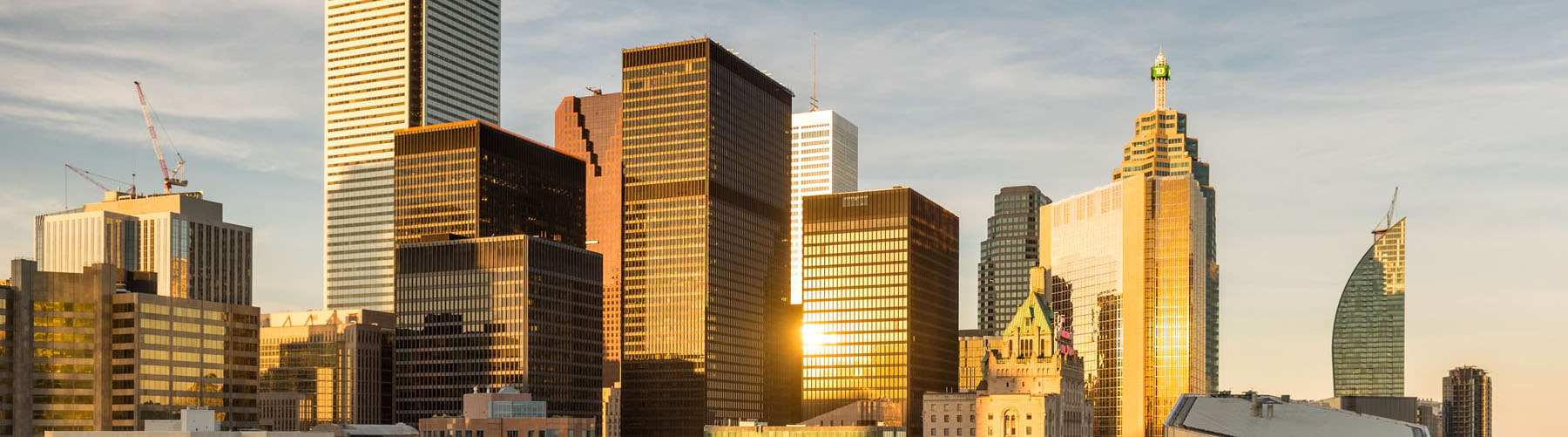 Cityscape of the financial district in Toronto